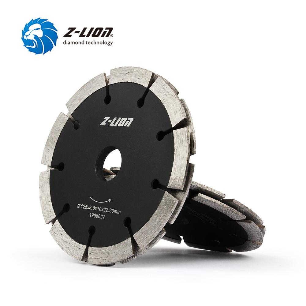 Z-LION 1PC 125mm Diamond Saw Blade Dual Tuck Point Cutting Disc Dry Wet Sandwich Circular Wheel Concrete Floor Brick Wall Chaser
