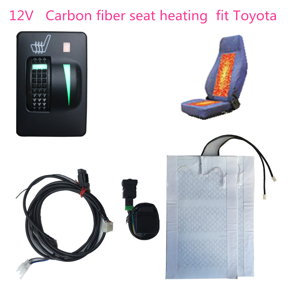 12 V Autumn And Winter car seats Heating carbon fiber heating element kit and OE heated swtich fit for <font><b>Toyota</b></font> <font><b>Corolla</b></font> <font><b>accessory</b></font> image