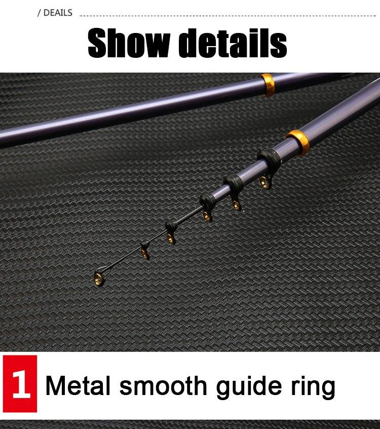 3.6 m-6.3 m de fibra de carbono