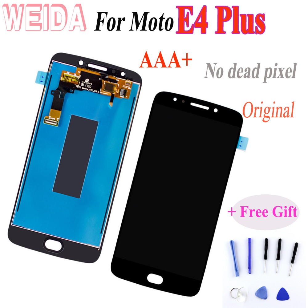 Motorola <font><b>Moto</b></font> <font><b>E4</b></font> <font><b>plus</b></font> <font><b>XT1770</b></font> XT1771 XT1772 XT1773 XT1775 XT1776 LCD <font><b>Display</b></font> Touch Screen Digitizer Assembly Black+Free ship image