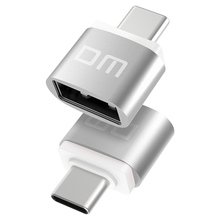 DM USB C Adapter Typ C zu USB 2,0 Adapter Thunderbolt 3 Typ C Adapter OTG Kabel Für Macbook pro Air Samsung S10 S9 USB OTG