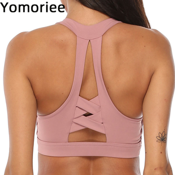 Women Yoga Bra Push-up Fitness Top Adjustable Cross-Back Sexy Gym Sport Workout Running Training Quick Dry Halter Sweat Yomoriee knot back halter top