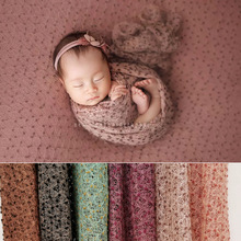 New neonatal photographic wrapping cloth for infant photographic knitting colored dot wrapping gauze