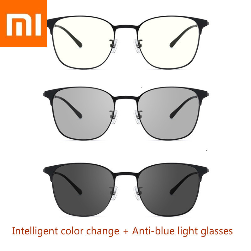 Оригинальный Xiaomi обесцвечивание + двойные анти-синие очки Защита синий свет мульти эффект очки Xiomi умный плоский свет (0 градусов)