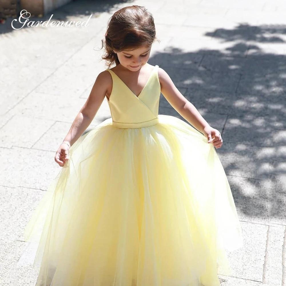 Flower Girl Dress Flower Girl Baby Dress Yellow Newborn dress Flower Girl Dress Gold Yellow Baby dress Coming Home Outfit Baby Girl,