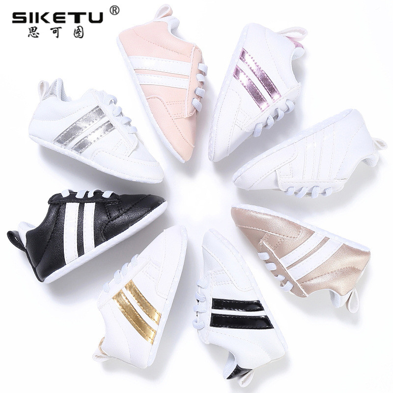 Baby Shoes Boy Girl Star Solid Sneaker Cotton Soft Anti-Slip Sole Newborn Infant Toddler Casual Soft Sole Shoe Sneaker D40