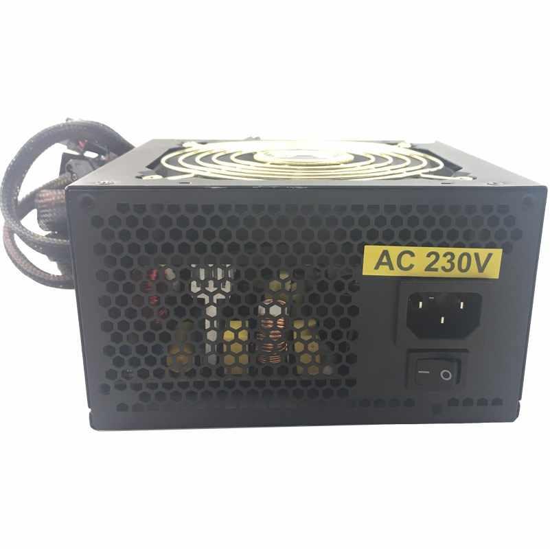 Game Komputer PC Power Supply 600W ATX Form Power Supply Desktop PC 600W Switching Power dengan Fungsi PFC efisiensi Tinggi