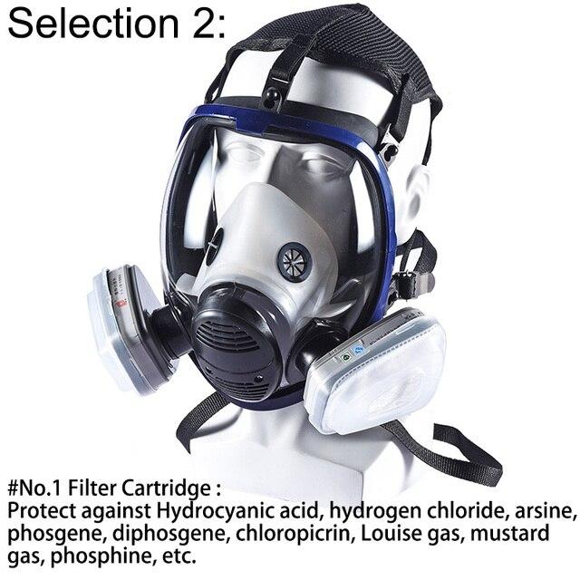 Полнолицевая маска для краски 6800 респиратор химическая с картриджем