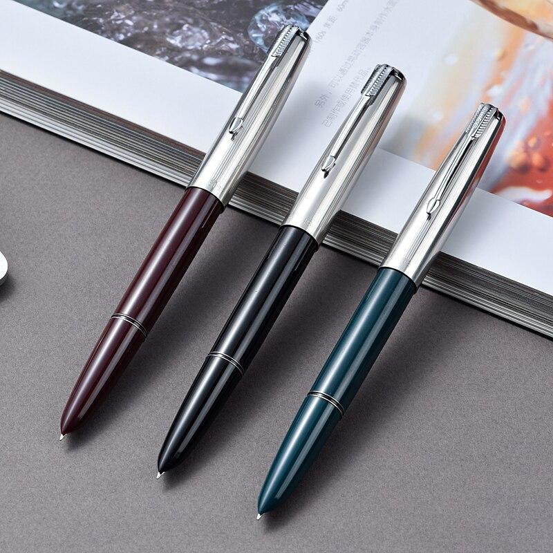 Hero 616 3 pièces série fine stylo plume moyen noir rouge vert livraison gratuite