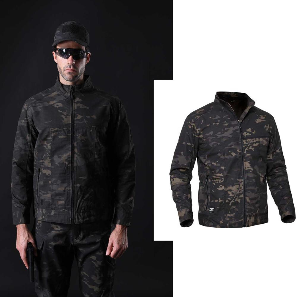 Camouflage Men's Windbreakers Tactical Clothes For Fishing Waterproof Man Soft Shell Military Uniform Hunting Hiking Outdoor