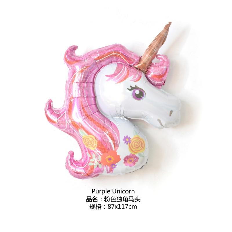 46 pulgadas unicornio fiesta globo decoración mini fiesta de cumpleaños baby shower boda decoración globo niños juguete regalo 10 piezas - 3