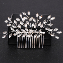 Trendy Silver Pearl Crystal Wedding Hair Combs