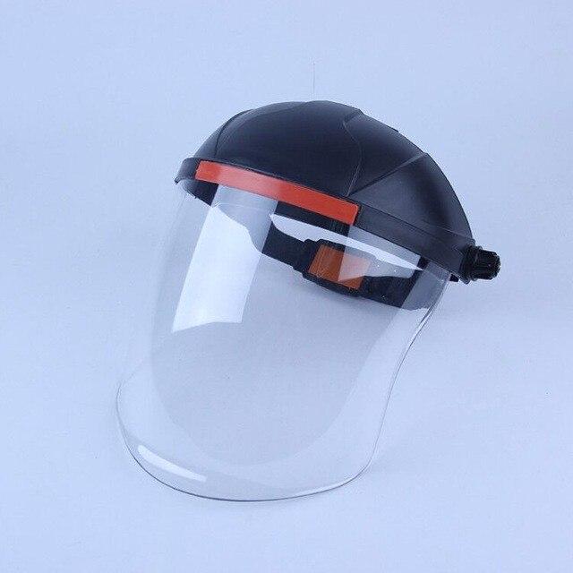 Anti-saliva à prova de poeira máscara de segurança pvc transparente enfrenta protege viseiras de reposição da tela para a cabeça máscara de poeira de proteção para os olhos