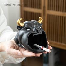 Creativity Animal Ceramic Home Living Room Bedroom Office Ashtray Accessories Portable Hallowe Cigarette Cigar Key Storage