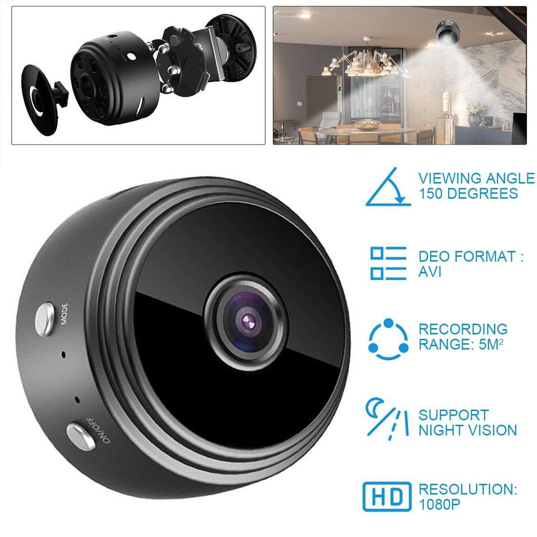 1080P Mini Wifi Camera A9 Wireless Camera Home Security Surveillance Camera Motion Detection IR Night Vision App Remote Monitor
