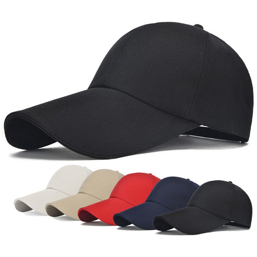 Solid Color Simple <font><b>Baseball</b></font> <font><b>Cap</b></font> Women Adjustable <font><b>Sport</b></font> Casual Golf <font><b>Caps</b></font> Fashion Long Brim Visor Hiking Climbing <font><b>Caps</b></font> Breathable image
