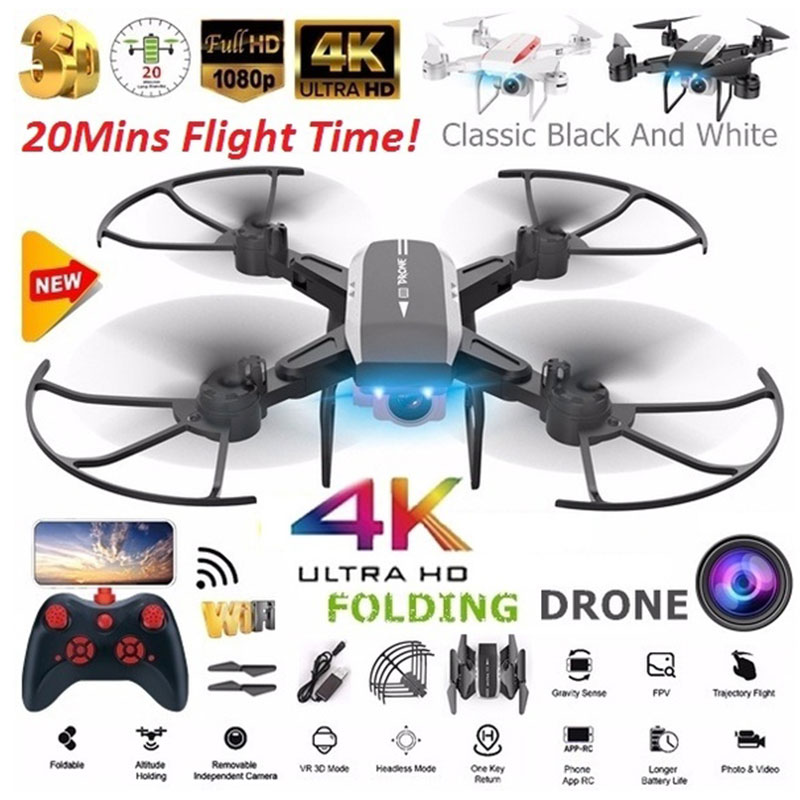 KY909 2 4GHz RC Drone Quadcopter Professional 4K Full HD Camera WIFI FPV Helicopter One Key Return Optical Flow Positioning