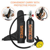 1L Scuba Oxygen Cylinder Diving Air Tank Scuba Regulator Diving Respirator Snorkeling Breathing Equipment with Protective Pouch