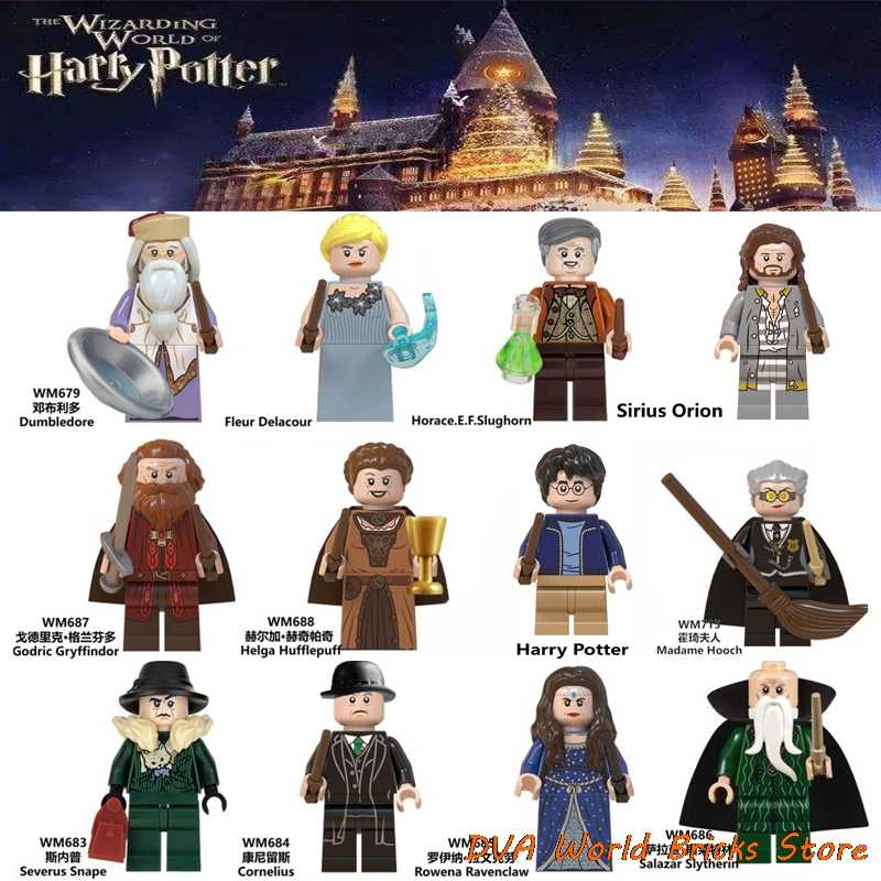 For Harri Magic Figures Lord Voldemort Beasts Sirius Orion Ron Malfoy Dobby Snape Dumbledore Hermione building Blocks Gifts Toys