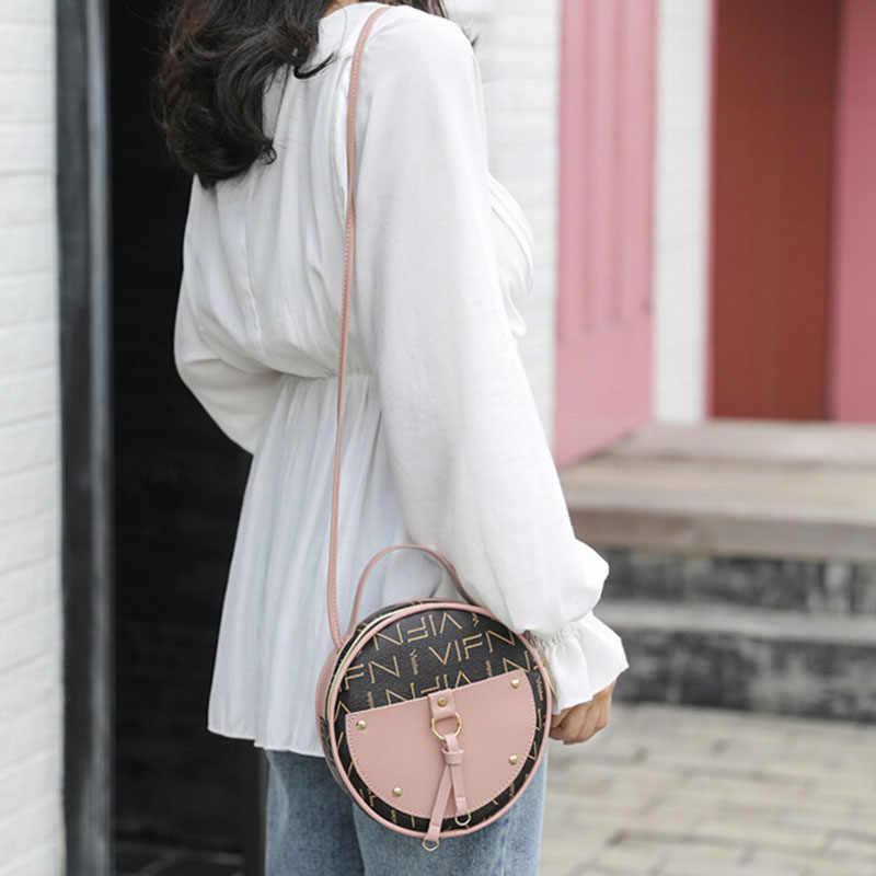 Bolsa de ombro feminina vintage de couro sintético, bolsa tira-colo com alça carteiro e couro sintético de poliuretano, estilo vintage 2019