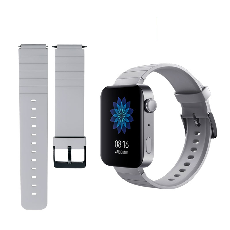18mm Soft Silicone Strap For Xiaomi Smart Watch Band Replace Bracelet Mi Watch Strap Accessories
