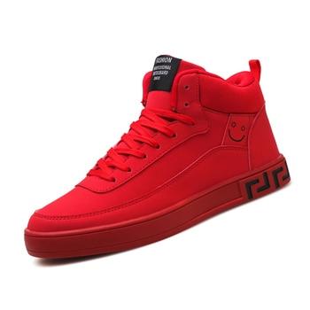 YeddaMavis Running Shoes Men Sneakers New Fashion Spring Autumn Casual Male Red Style Zapatillas De Deporte