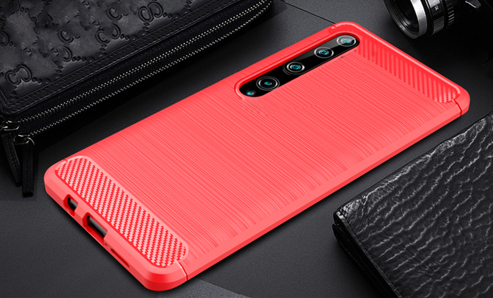 For Mi 10,Mi10 Pro 5G Case Carbon Fiber Cover Shockproof Phone Case For Xiaomi Mi 10 Pro Cover Flex Bumper Durable Back Shell
