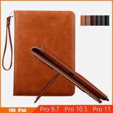 Case For iPad Pro 9.7 Pro 10.5 Cover Flip Auto Sleep/Wake Up Stand Wallet Card Holder Leather Cover Case For Apple iPad Pro 11 wefor cover silicon leather case for apple ipad air 2 flip book style stand with card holder for ipad air2 wallet [painting]