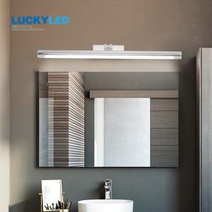 Image 4 - LCUKYELD luces Led de pared para espejo de baño 8W, 40CM, CA de 220V, 240V, 110V, aplique impermeable, lámpara de pared Retro, negro y plateado