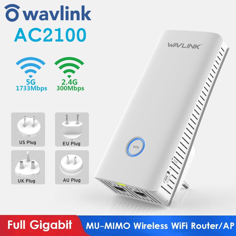 Wi-Fi роутер Wavlink AC2100, беспроводной гигабитный роутер, Wi-Fi репитер, 2,4 ГГц + 5 ГГц, двухдиапазонный Wi-Fi расширитель диапазона, точка доступа, Новин...