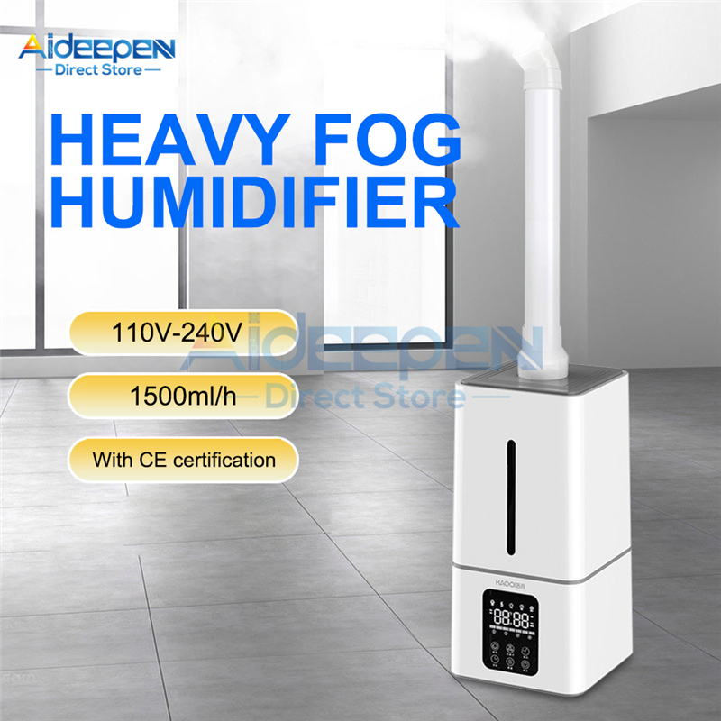110V 220V 13L Ultrasonic Humidifier Industrial Air Humidifier Atomization Disinfection Machine Sprayer For Supermarkets Office