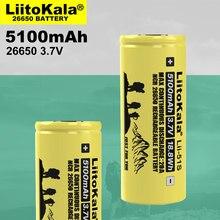 Liitokala – batterie lithium rechargeable, LII-51S, 26650, 20a, 26650A, 3.7V, 5100mA, courant élevé, 1 pièces Convient pour lampe de poche