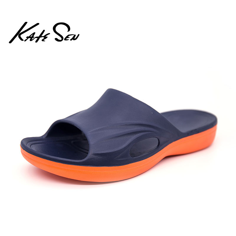 KATESEN Summer Clearance Men Slippers Quality Soft Comfort Slippers Outside Non-slip Rubber Beach Shoes Fashion Male Flats
