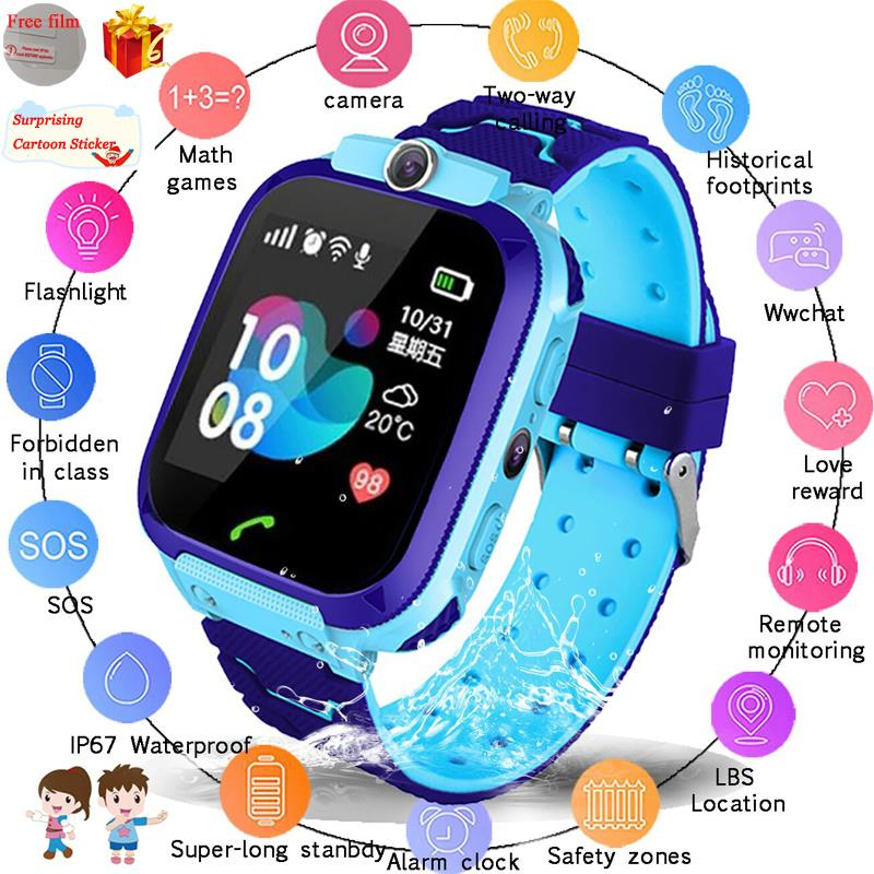 Location-Tracker Clock Smartwatch Sim-Card Call Baby SOS Waterproof Kids Q50 Q90 Q528. title=