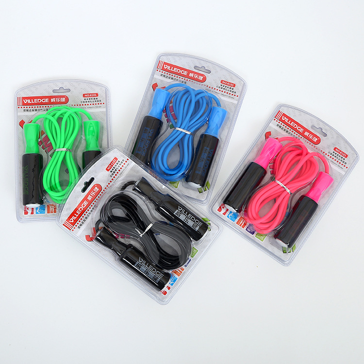 Multi-color Adjustable Sponge Jump Rope Fitness Outdoor Sports Supplies Adult's Skipping Rope Young STUDENT'S Sports Jump Rope