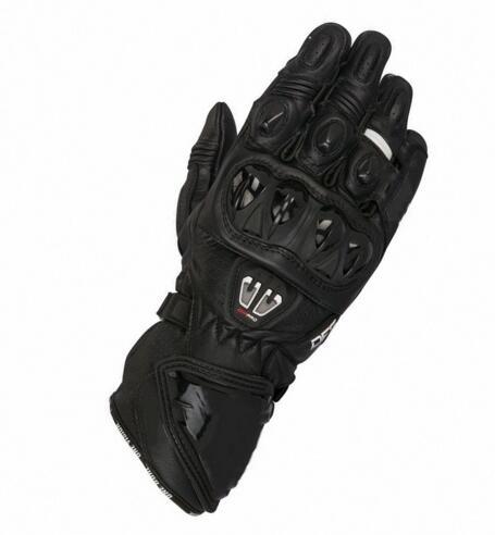 Offres spéciales! gants de moto de rue en cuir Alpin GP Pro R2 noir hommes