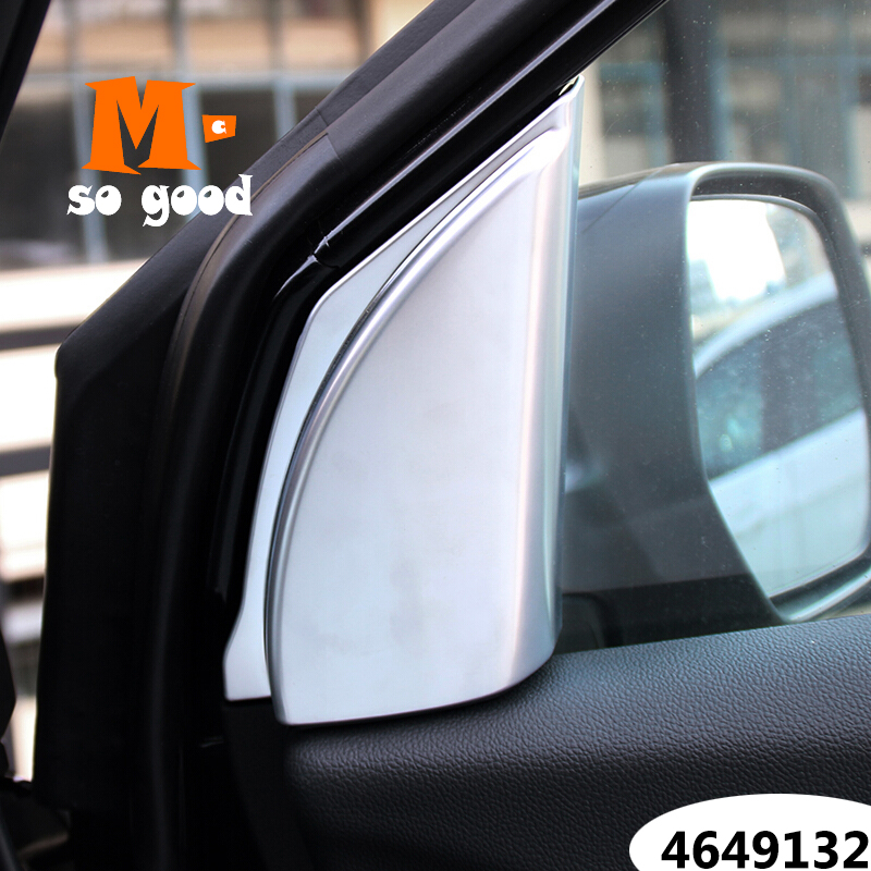 For Honda CRV CR-V 2012/13/<font><b>14</b></font>/15/16-Car A-pillar <font><b>speaker</b></font> loud Horn trim Cover-ABS Chrome auto interior accessories sticker shell image