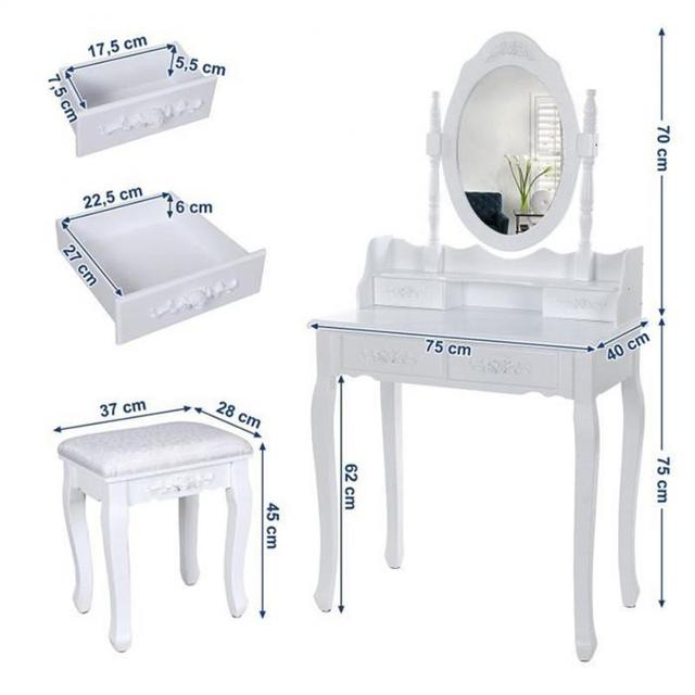 European Bedroom Dressers With Mirror  2