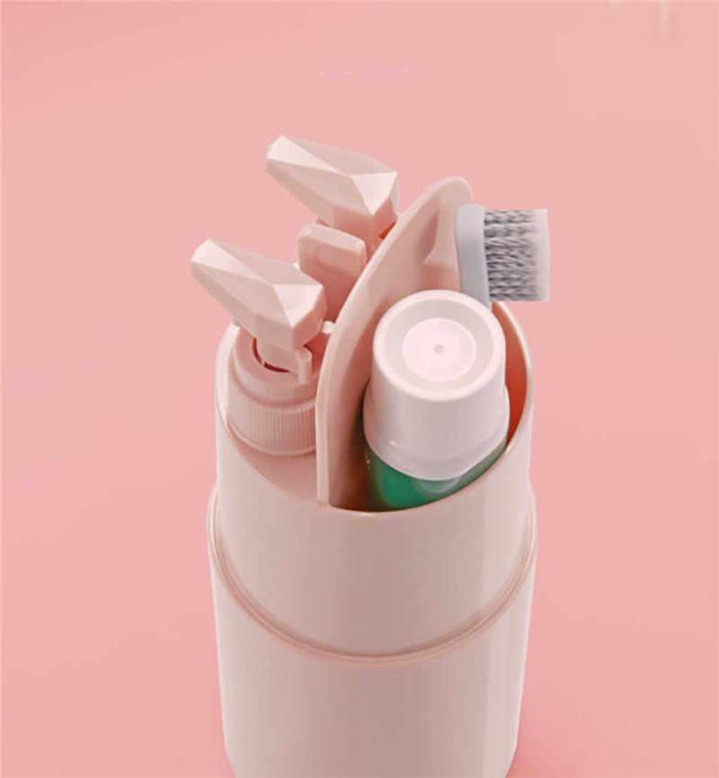 Imitable wysokiej jakości nowy podróży przybory toaletowe kubek do przechowywania szczoteczka do zębów pasta do zębów akcesoria łazienkowe trwałe gadżety podróżne @ D