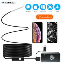 3.9MM WiFi Borescope กล้อง Endoscope IP67 กันน้ำ 2000mAh Semi RIGID SNAKE Camera สำหรับ Android และ iPhone iOS Samsung PC