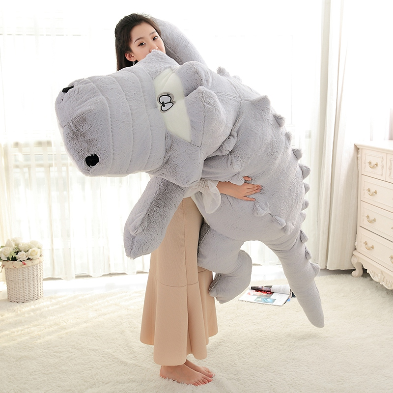 230cm Cute Animals Big Size Simulation Crocodile Skin Plush Toy Soft Stuffed Animal Toy Cartoon Plush Pillow Skin Kids Gift
