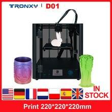 Tronxy Industrielle D01 3D Drucker Stille Mainboard Linearführungsschiene Core XY Struktur mit Acryl Maske 3,5 in Farbe TouchScreen