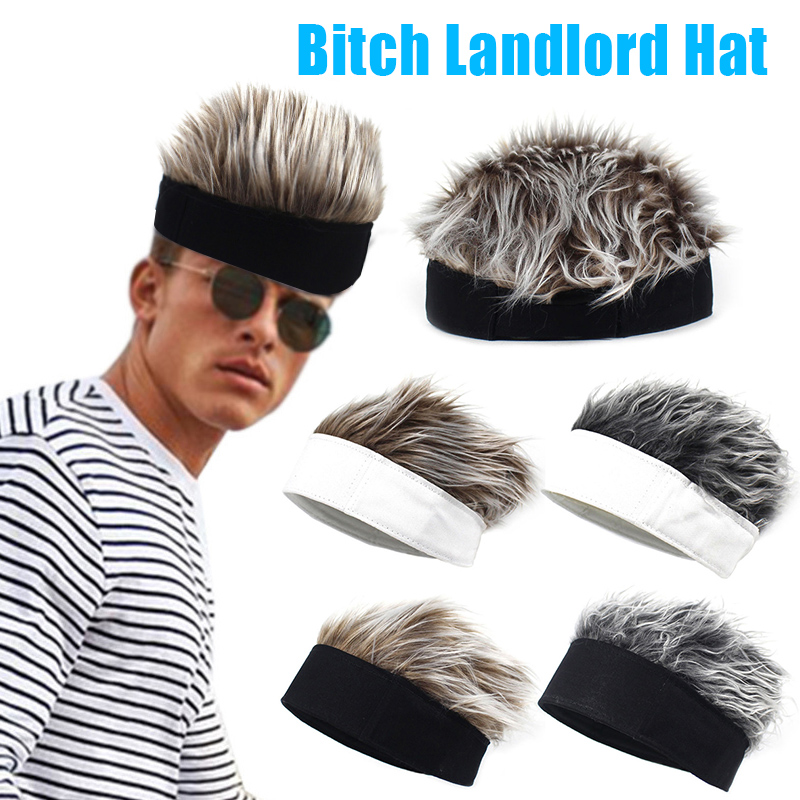Men Women Beanie Wig Hat Fun Short Hair Caps Breathable Soft For Party Outdoor TT@88