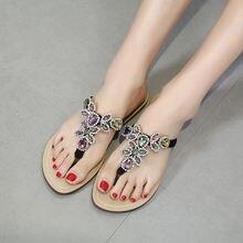Летнее платье с кристаллами Новый стиль туфли на плоской подошве