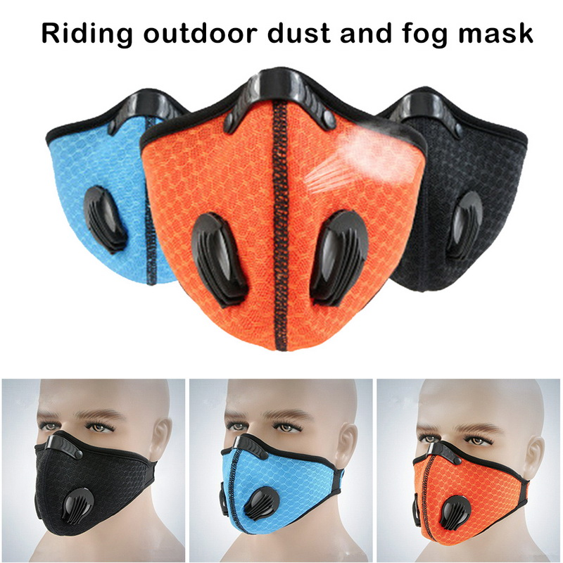 Filter Activated Carbon  2.5 Anti-Pollution Running With Cycling Mask KN95 Antiviral Coronavirus Sport Face Mask 3
