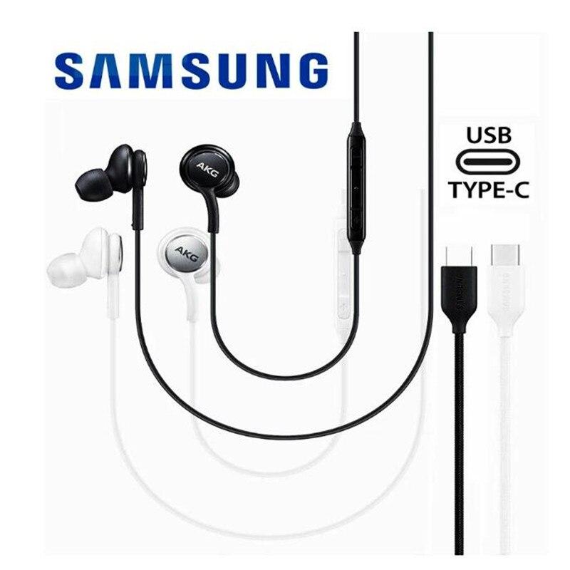 Оригинальный SAMSUNG AKG Наушники EO-IG955 гарнитура In-ear Type-c с микрофоном Проводная клавиатура для GALAXY NOTE 10 20 S21 S20 ультра наушники