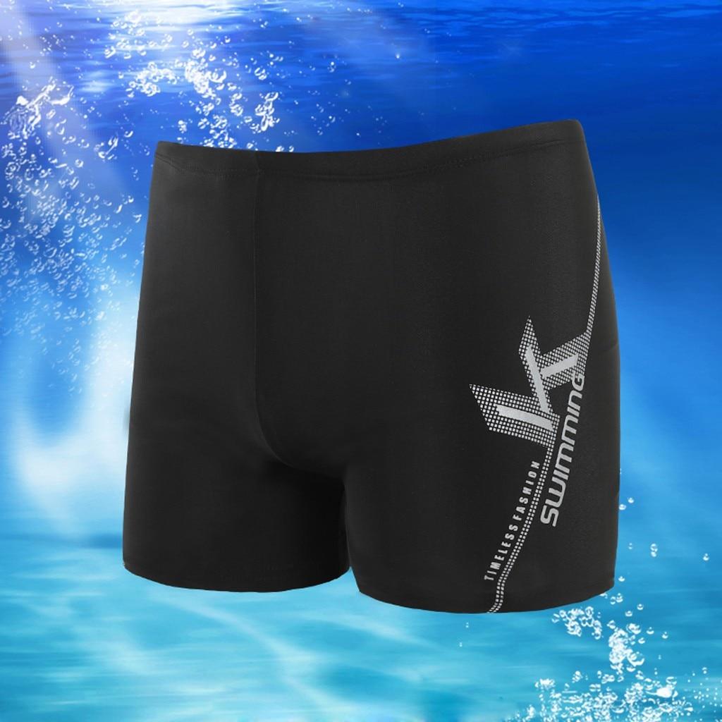 Men Slim Breathable Trunks Pants Quick Dry Beach Swimwear Underwear Quick Dry Bathing Shorts Beach Pant New Swimsuit Men