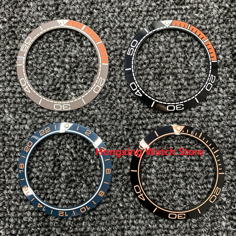 41.5mm-32.8mm Ceramic Bezel Insert For 44mm Dial Watch Face Watches Replace Accessories Ring