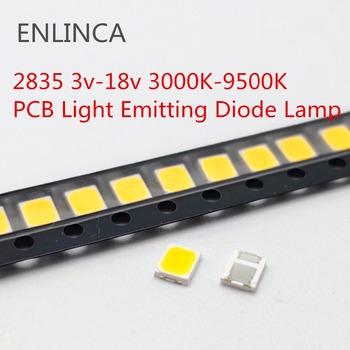 Wielka wyprzedaż LED SMD 2835 5730 chipy 1W 3V 6V 9V 18V koraliki światło białe ciepłe 0 5W 1W 130lm montaż powierzchniowy dioda elektroluminescencyjna lampa tanie i dobre opinie ENLINCA Nowy 3v-18v 2835 LED Do montażu powierzchniowego