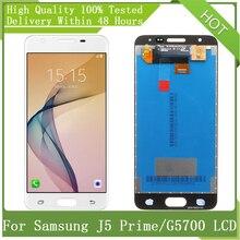 شاشة هاتف ذكي, شاشة سامسونج جالاكسي 5 بوصة شاشة أموليد J5 Prime G570 G5700 G570F G570M شاشة عرض LCD تعمل باللمس مجموعة محول رقمي أجزاء + حزمة خدمات